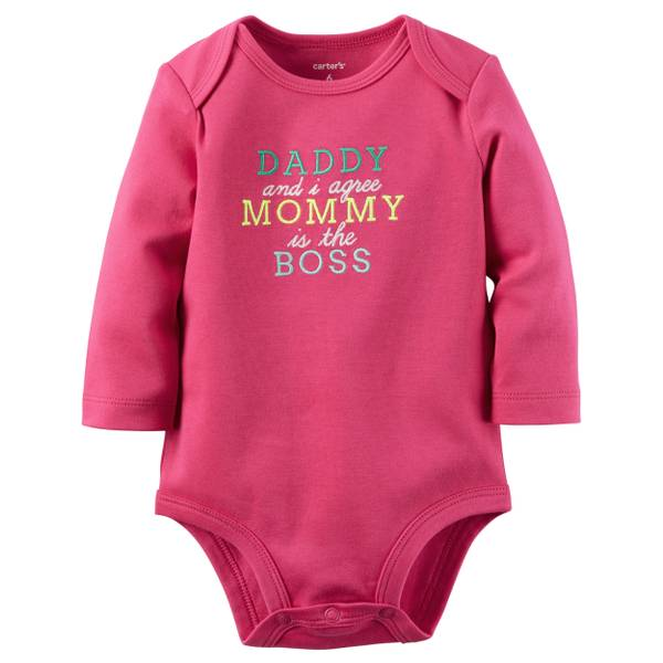 Baby Girl's Pink Mommy's The Boss Collectible Bodysuit