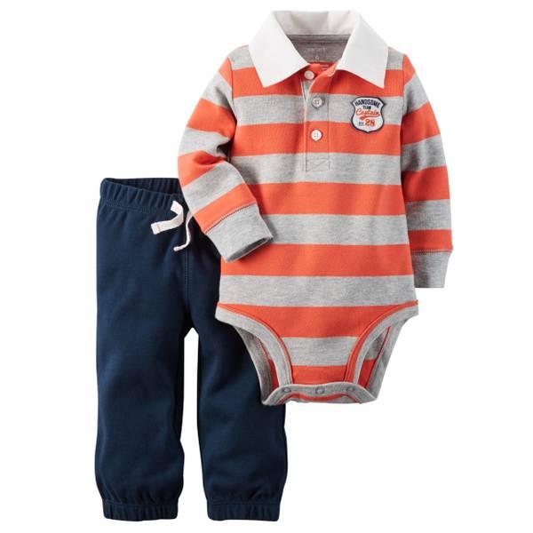 Infant Boy's Multi-Colored 2-piece Bodysuit & Pants Set