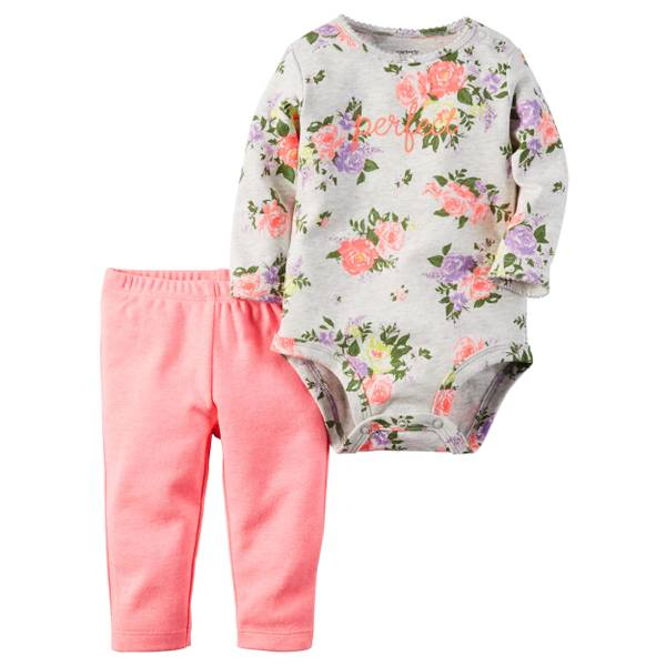 Infant Girl's Orange 2-Piece Pant Set