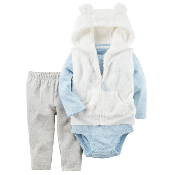 Baby Girl's Multi-Colored 3-Piece Little Vest Set