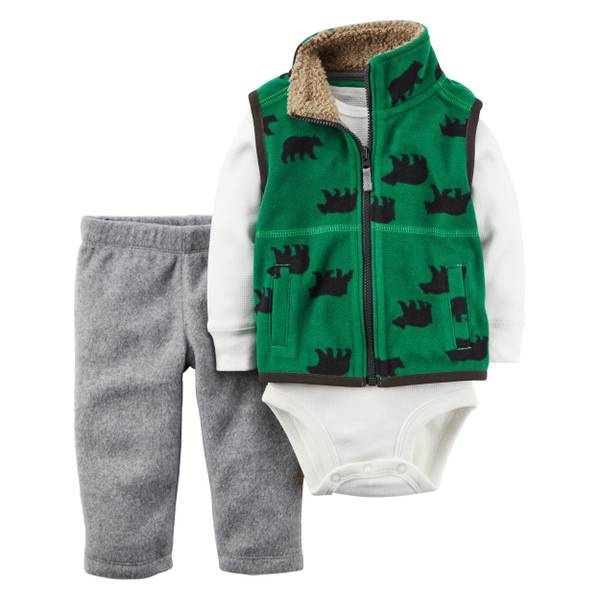 Baby Boy's Mlti-Colored 3-Piece Little Vest Set