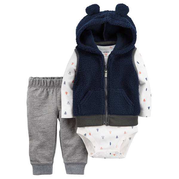 Infant Boy's Multi-Colored 3-Piece Little Vest Set
