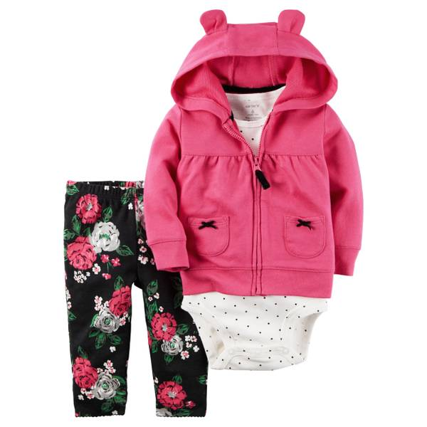 Infant Girl's 3-Piece Jacket Set
