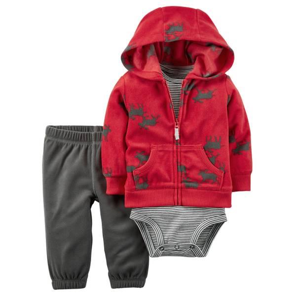 Infant Boy's Multi-Colored 3-Piece Vest Set