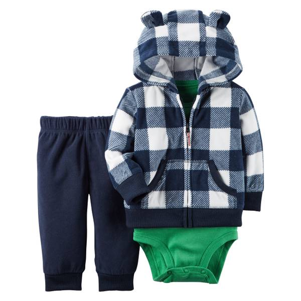 Infant Boy's Fleece Cardigan Set