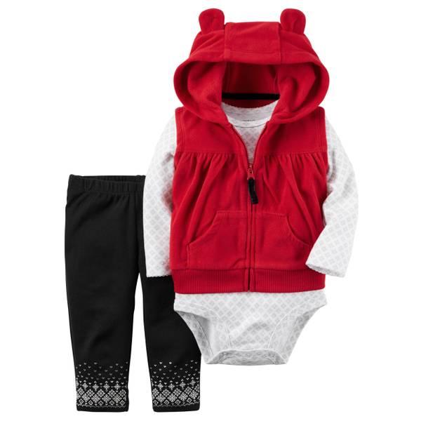 Infant Girl's Multi-Colored 3-Piece Little Vest Set