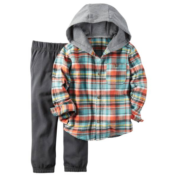 Infant Boy's Multi-Colored 2-Piece Pant Set