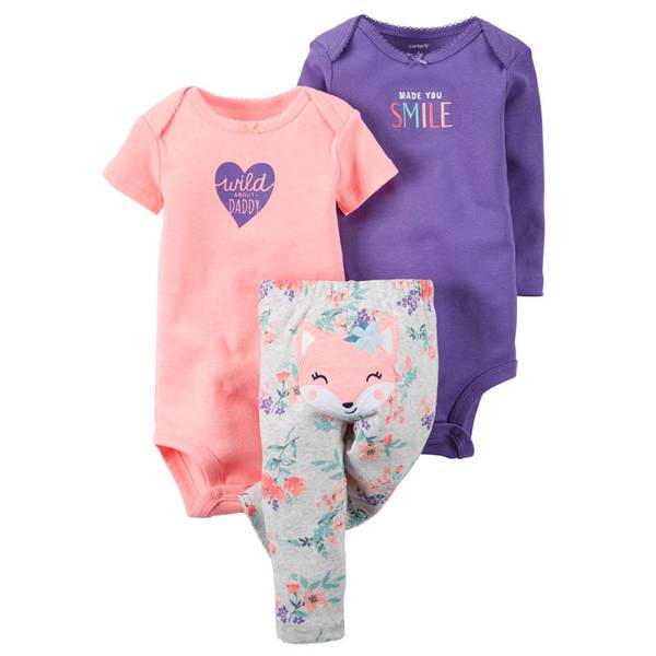 Baby Girls' 3-Piece Little Character Set