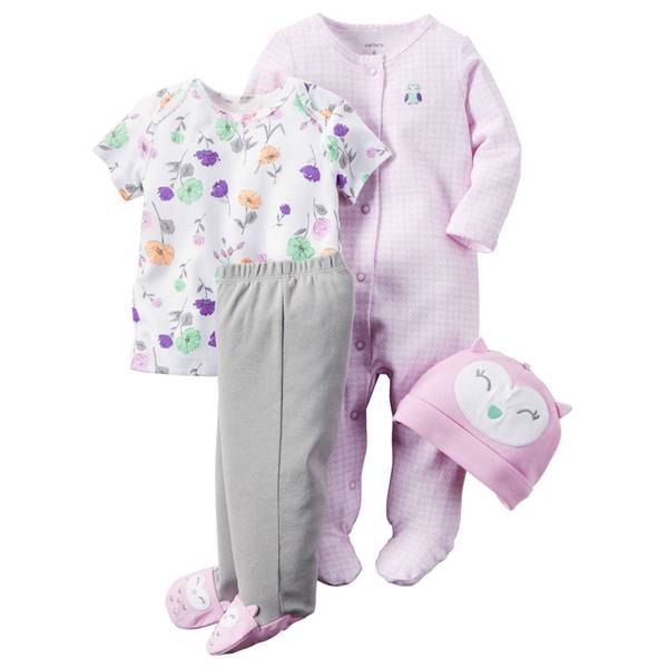Baby Girls' 4-Piece Take-Me-Home Set