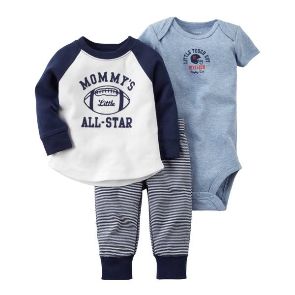 "Baby Boys' 3-Piece ""All Star"" Set"