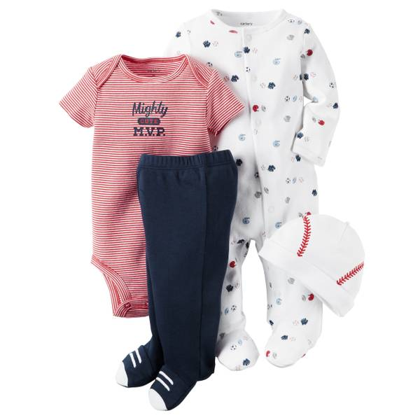 Baby Boys' 4-Piece Take-Me-Home Set