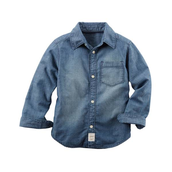 Boys' Chambray Button-Front Shirt