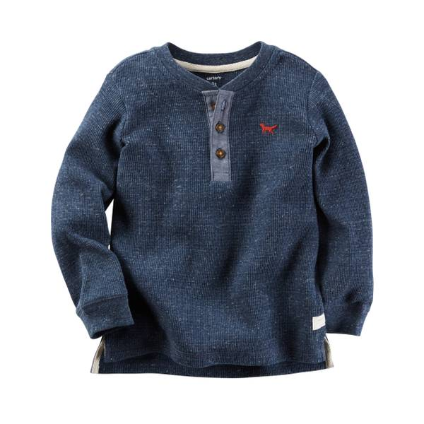 Boys'  Long-Sleeve Henley Tee