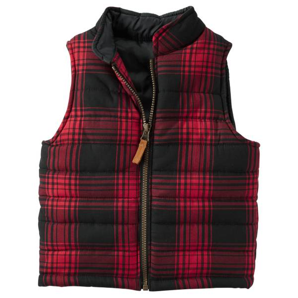 Boys'  Flannel Puffer Vest