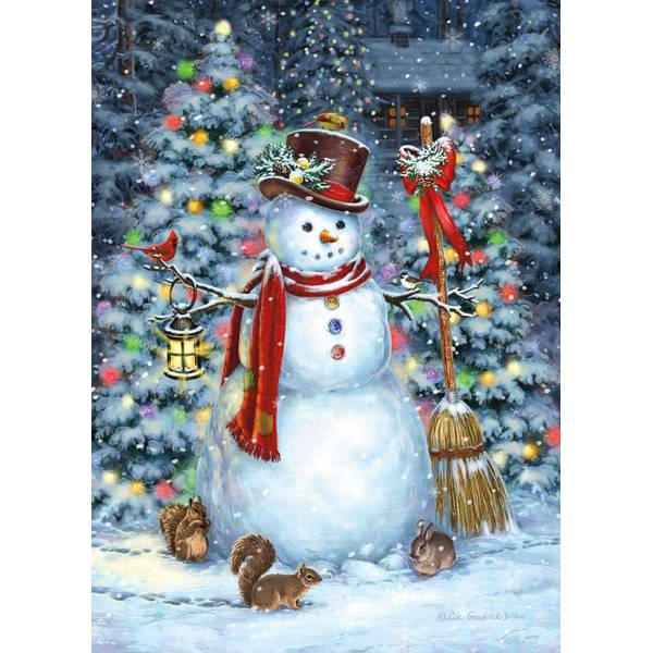 Woodland Snowman Deluxe Holiday Cards