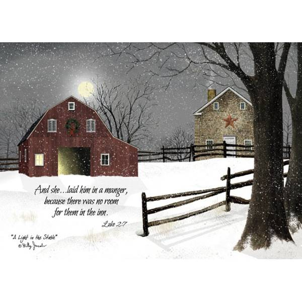 A Light In the Stable Deluxe Christmas Cards