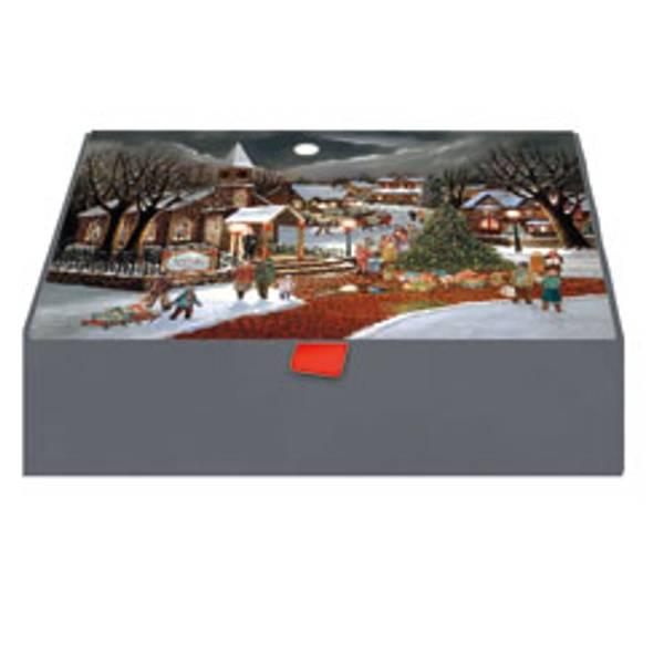 Christmas Spirit Glitter Keepsake Box