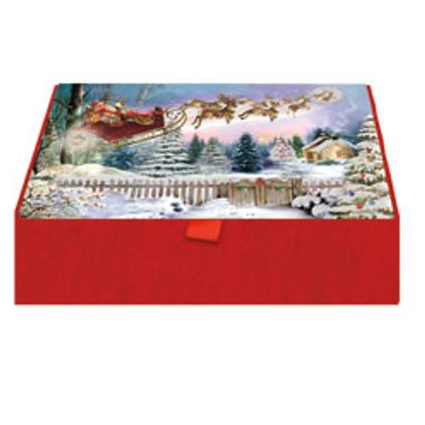 Here Comes Santa Glitter Keepsake Box