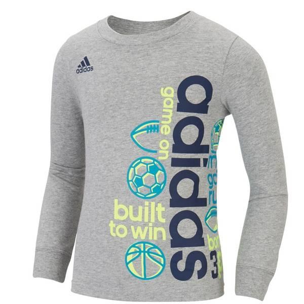 Boys' Gray Long-Sleeve Built To Win Shirt