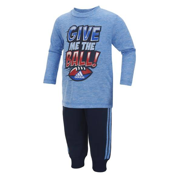 Toddler Boy's Blue Give Me The Ball 2-Piece Se