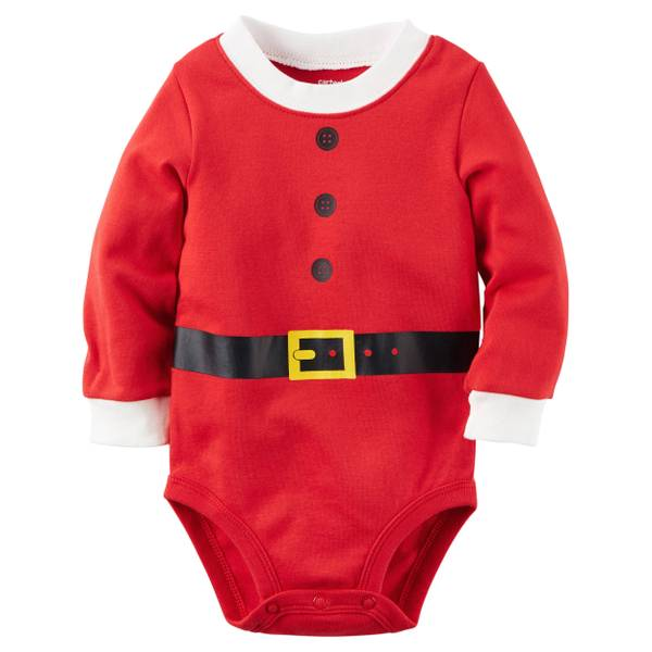 Baby Girls'  Santa Collectible Bodysuit