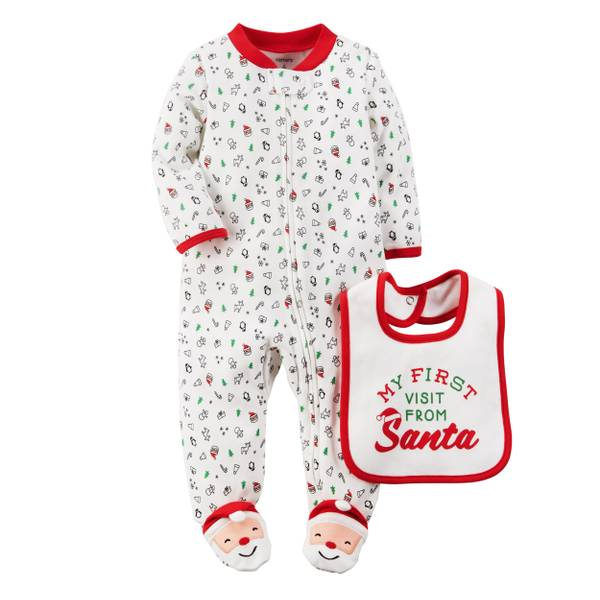 Baby Girls'  & Red 2-Piece Sleep & Play Set