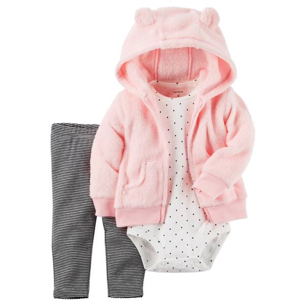 Infant Girl's Multi-Colored 3-Piece Little Jacket Set