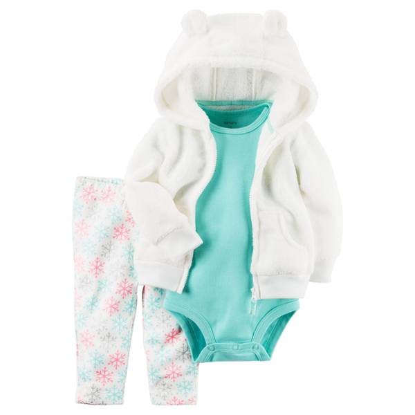 Infant Girl's Multi-Colored 3-Piece Jacket Set