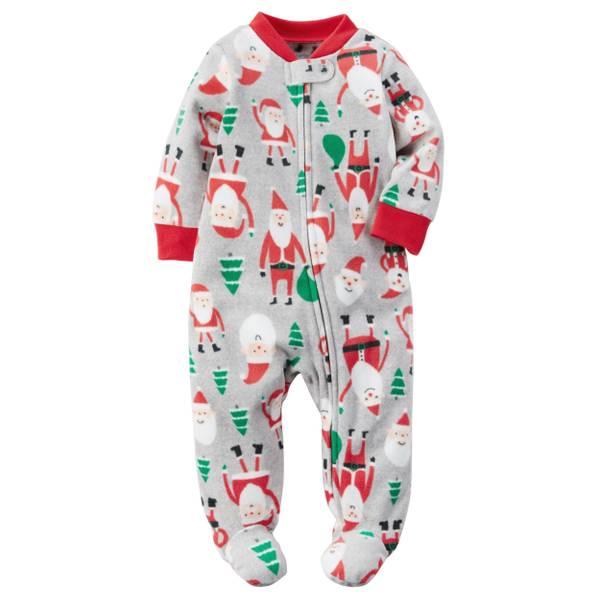 Baby Boys' Santa Fleece Sleep & Play Pajamas