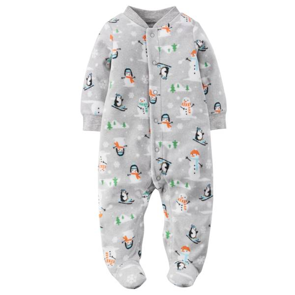 Baby Boys' Gray Sleep & Play Jumpsuit