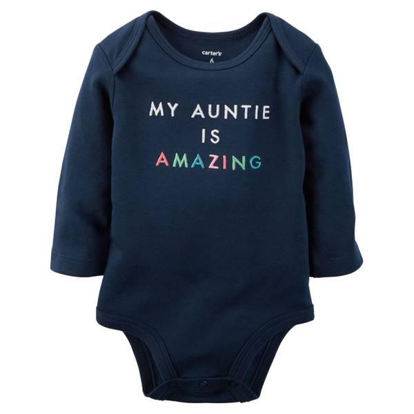 Baby Girl's Navy Amazing Auntie Collectible Bodysuit