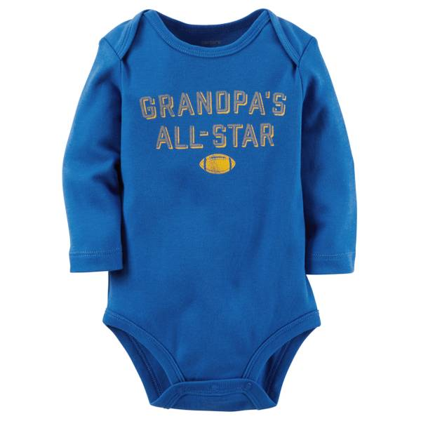 "Infant Boy's Blue ""Grandpa's All-Star"" Bodysuit"