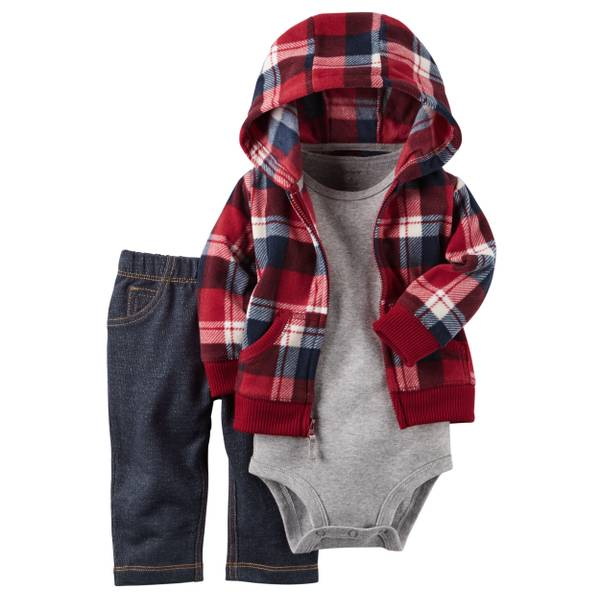 Infant Boy's Multi-Colored 3-Piece Little Jacket Set