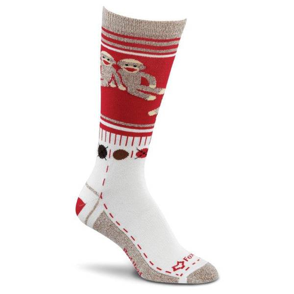 Women's Monkey Friends Light Weight Crew Socks