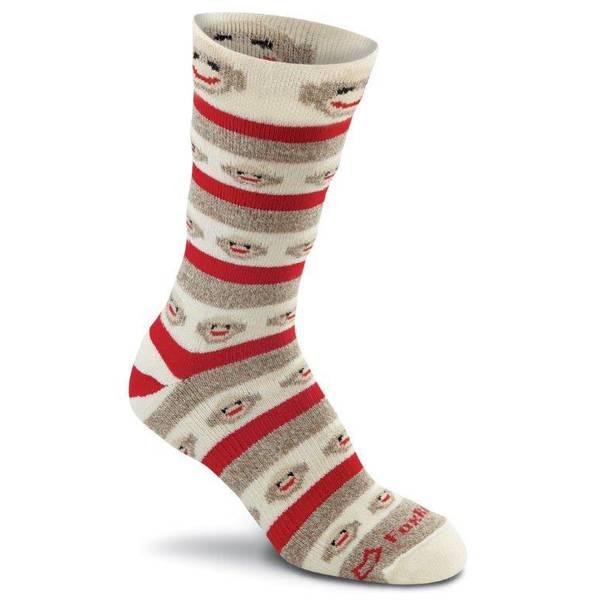 Women's Monkey Stripe Crew Socks