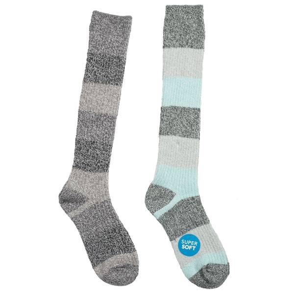 Women's Super Soft Striped Knee-Hi Socks