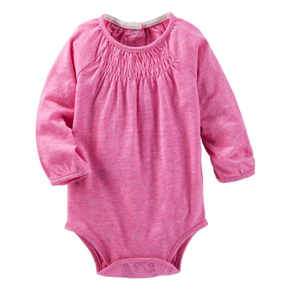 Infant Girl's Neon Smocked Bodysuit