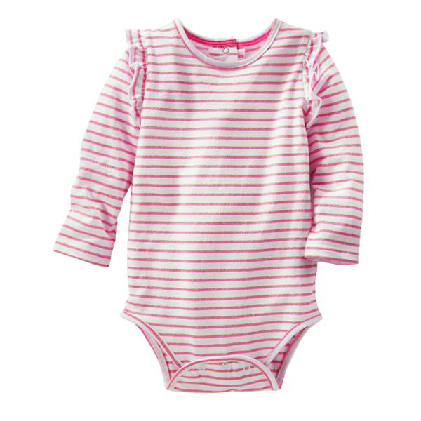 Baby Girls' Sparkle Stripe Bodysuit