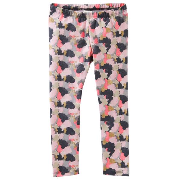 Girls' Multi-Colored  Camo Leggings