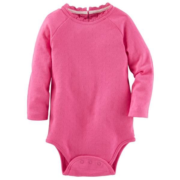 Baby Girl's Pink Sparkle Bodysuit