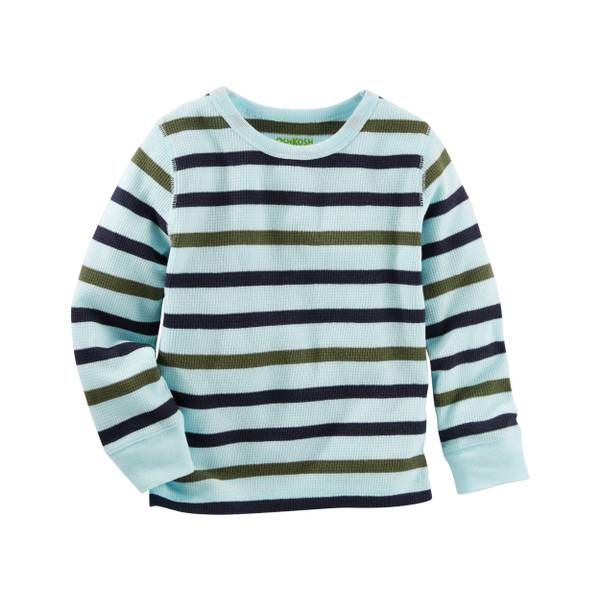 Boys'  Striped Thermal Tee