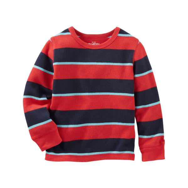 Toddler Boys'  Striped Thermal Tee
