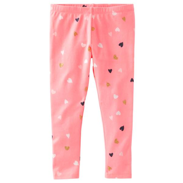 Girls'  TLC Heart Print Leggings