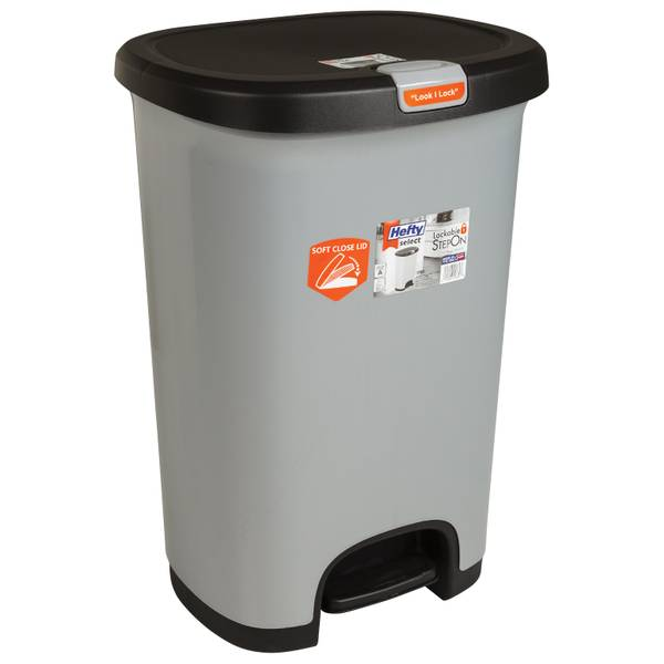 Lockable Step On Wastebasket