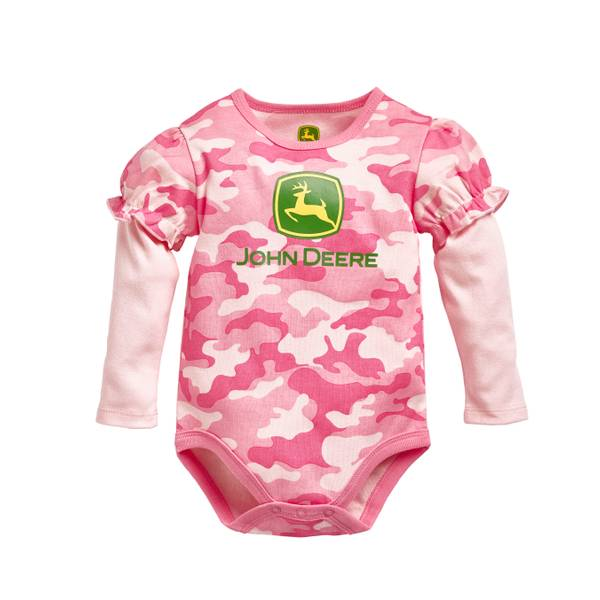 Baby Girls' Long Sleeve Camo Logo Bodysuit