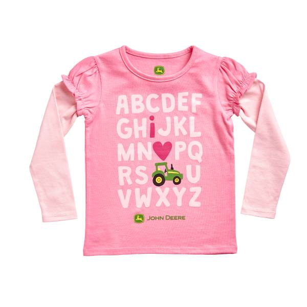 "Toddler Girls' Medium  ""I Love Tractors"" T-Shirt"