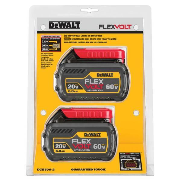 FLEXVOLT 20V/60V MAX Battery Combo Pack 6AH