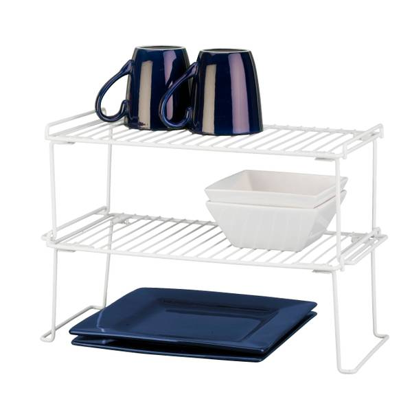 White Large Folding Stacking Shelf