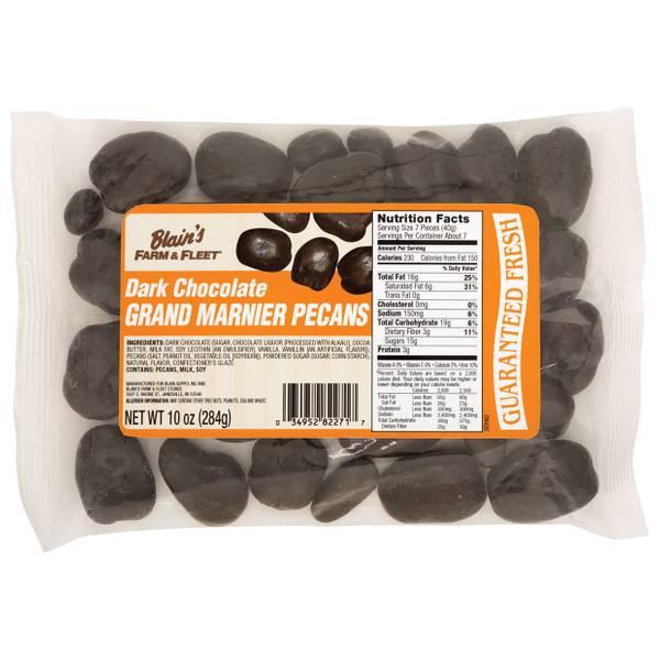 Dark Chocolate Grand Marnier Pecans