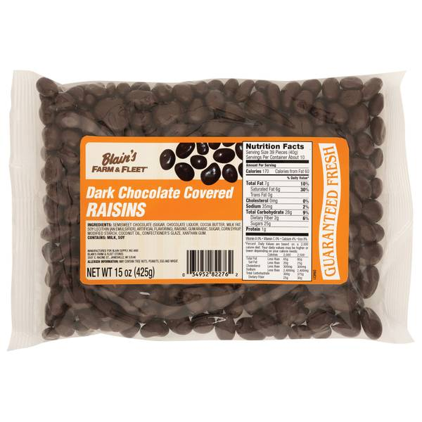 Dark Chocolate Raisins